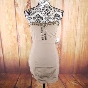 NWT Nikibiki Beige Strapless Mini Dress